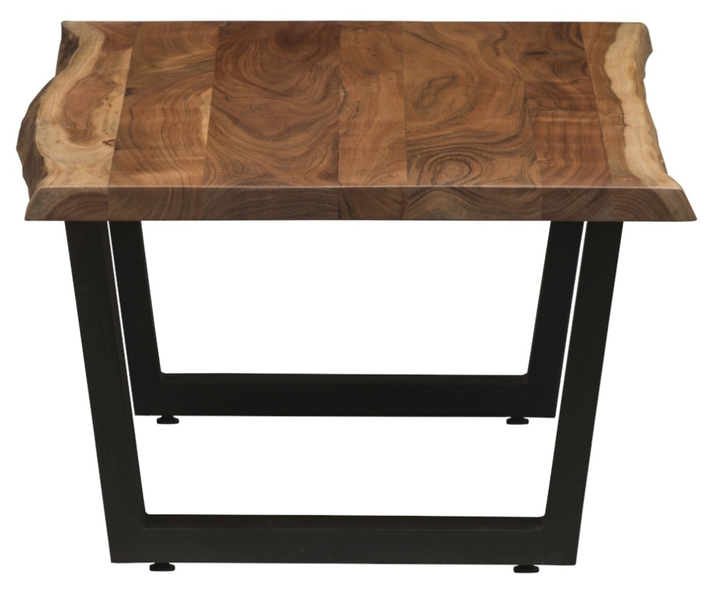 Urban Deco Live Edge Solid Acacia Wood Coffee Table - Light