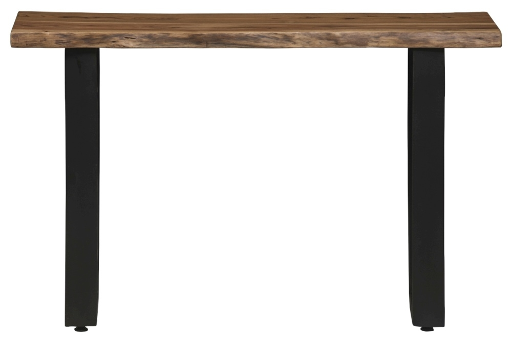 Urban Deco Live Edge Solid Acacia Wood Console Table - Light