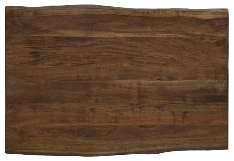 Urban Deco Live Edge Solid Acacia Wood 120cm Dining Table - Dark