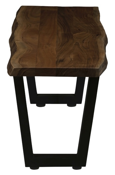 Urban Deco Live Edge Solid Acacia Wood 160cm Bench - Dark