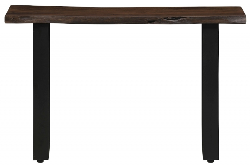 Urban Deco Live Edge Solid Acacia Wood Console Table - Dark