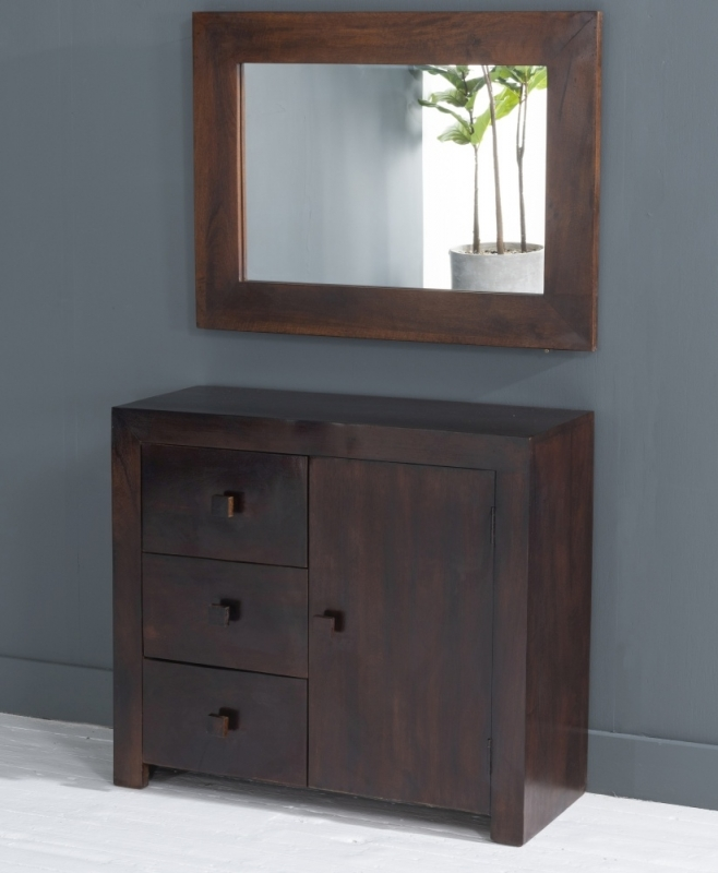 Dakota Indian Mango Wood Small Sideboard - Dark
