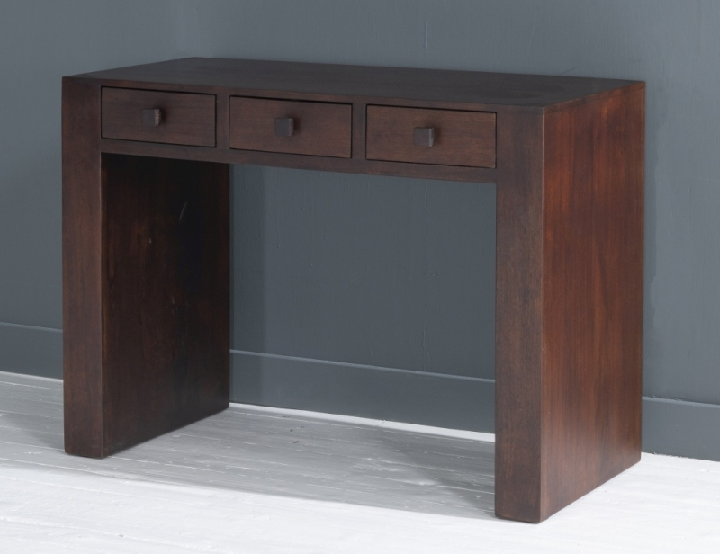 Dakota Indian Mango Wood Writing Desk - Dark