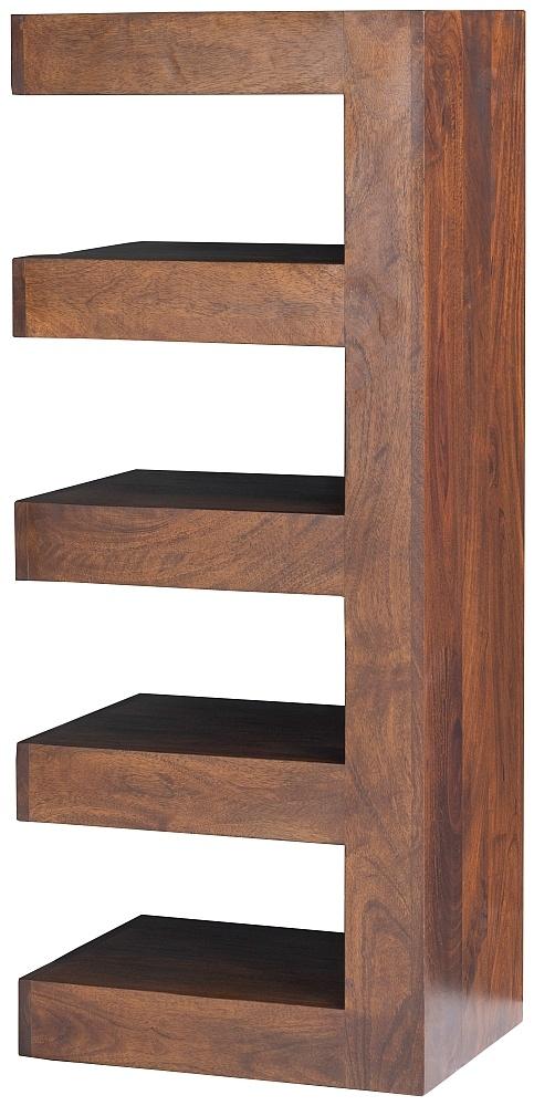 Dakota Indian Mango Wood Open Shelf Unit - Dark