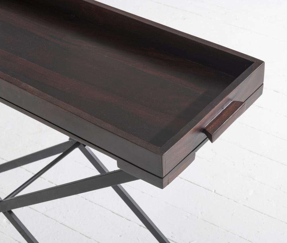 Jali Indian Sheesham Wood Large Tray Table
