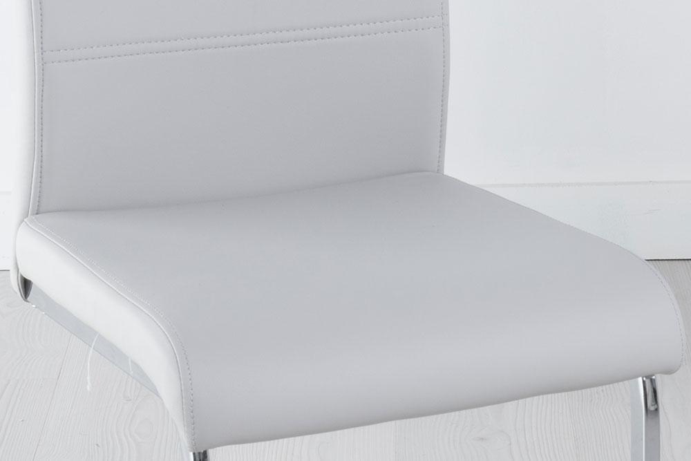 Set of 4 Malibu Metal Grey Dining Chair