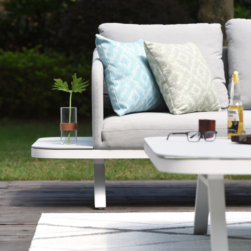 Maze Lounge Outdoor Cove Lead Chine Fabric Corner Sofa Group