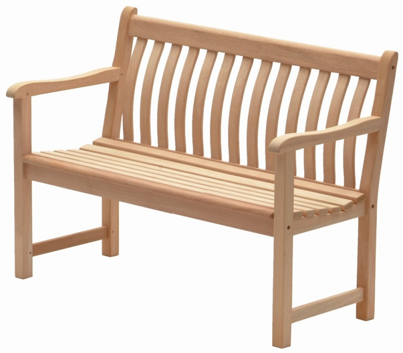 Alexander Rose Mahogany Wood Broadfield Bench 4ft
