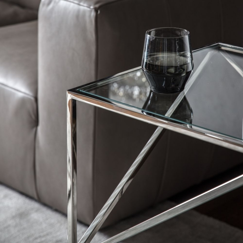 Gallery Parma Silver Side Table
