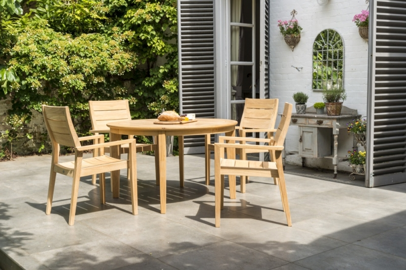 Alexander Rose Roble 125cm Round Dining Table