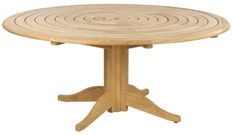 Alexander Rose Roble Bengal 175cm Round Pedestal Dining Table
