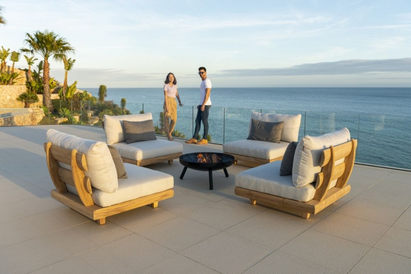 Alexander Rose Sorrento Mid Module Lounge with Cushion
