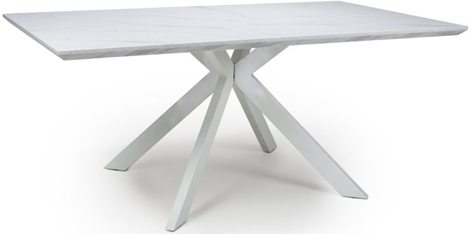Bianco White Marble Effect Dining Table