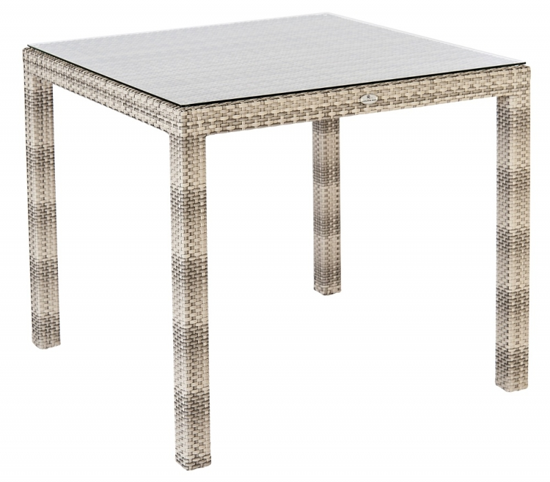 Alexander Rose Ocean Pearl Fiji 80cm Square Dining Table with Glass