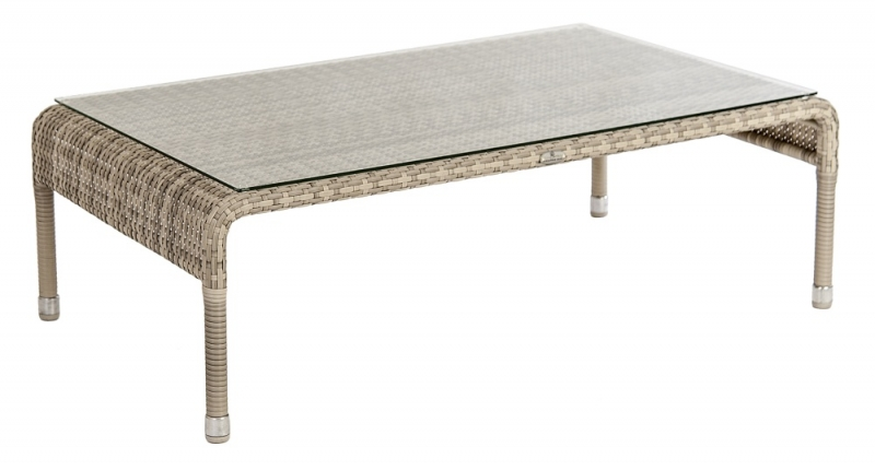 Alexander Rose Ocean Pearl Coffee Table with Glass