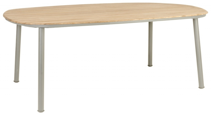 Alexander Rose Cordial Beige 200cm Dining Table with Roble Top