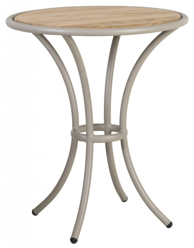Alexander Rose Cordial Beige Bistro Table with Roble Top