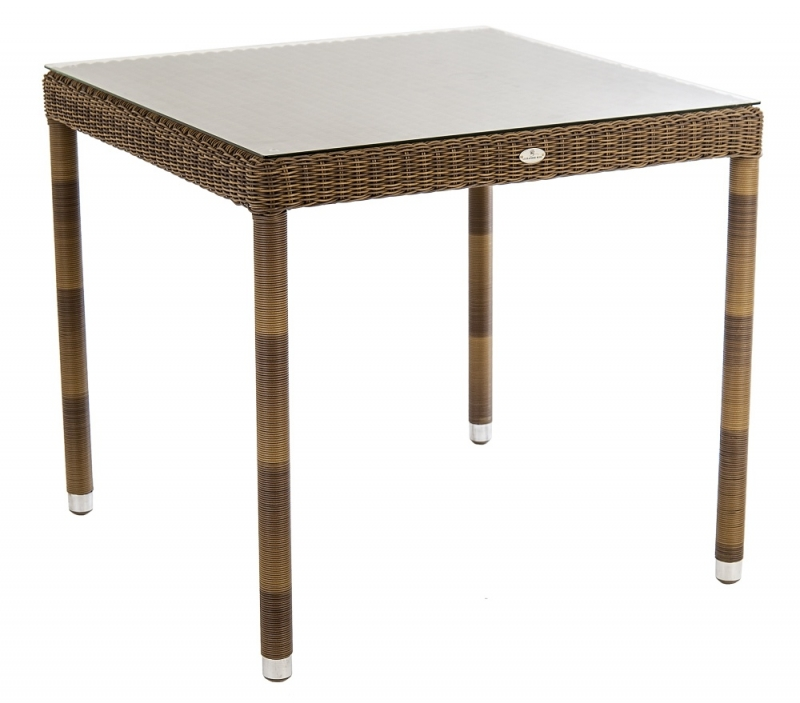 Alexander Rose San Marino 80cm Square Dining Table with Glass