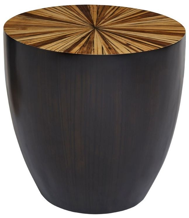 Beacons Natural Hevea Round Side Table