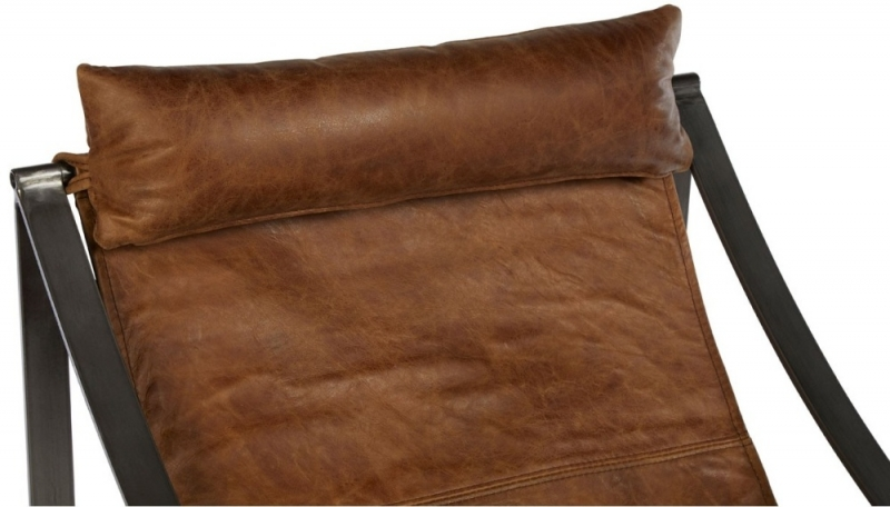 Bexley Genuine Light Brown Leather Lounge Chair