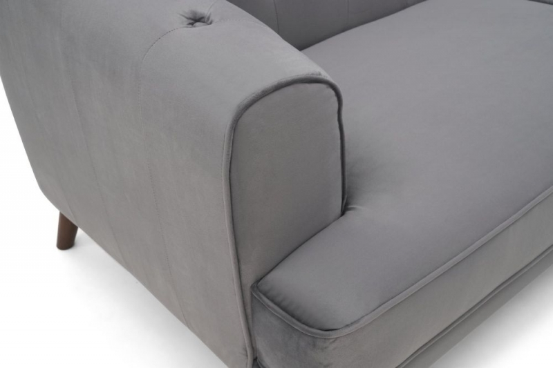 Mark Harris Destiny Grey Velvet 3 Seater Sofa