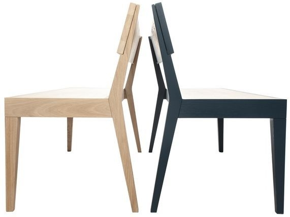 Cubo Oak Bench with Wooden Seat