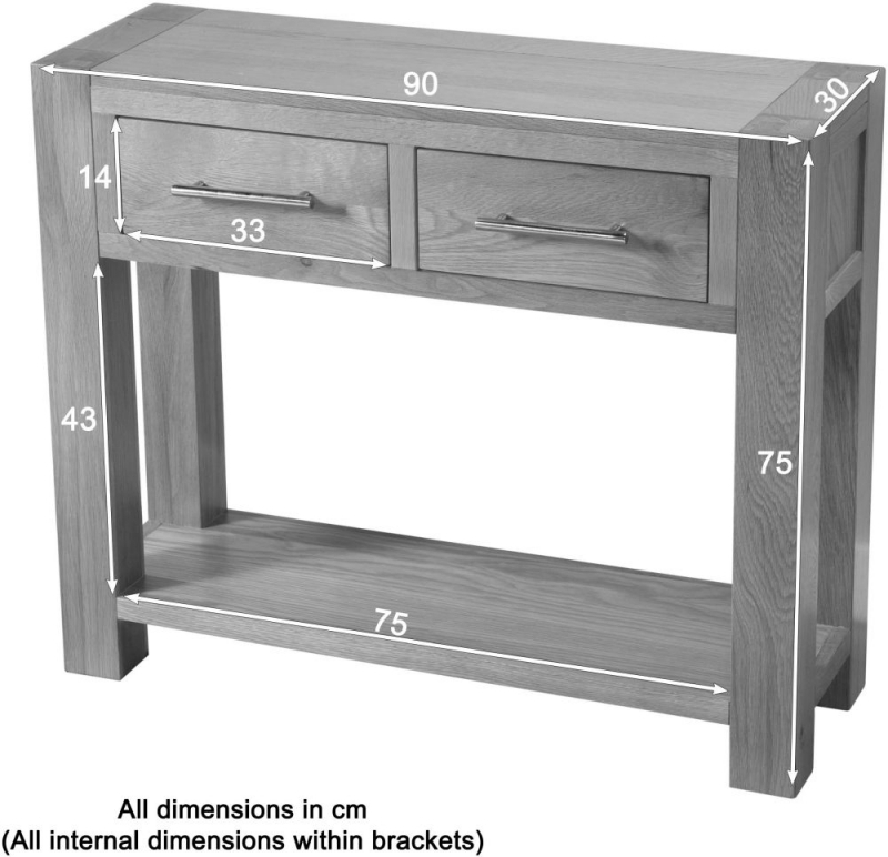 Clearance - Milano Oak Large Console Table - New - FSS8757