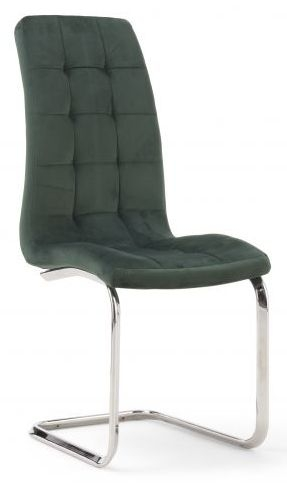 Mark Harris Lucy Green Velvet Dining Chair (Pair)