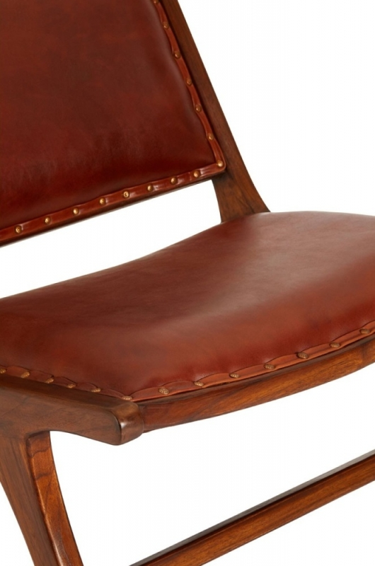 Adelaide Genuine Antique Brown Leather Angled Chair