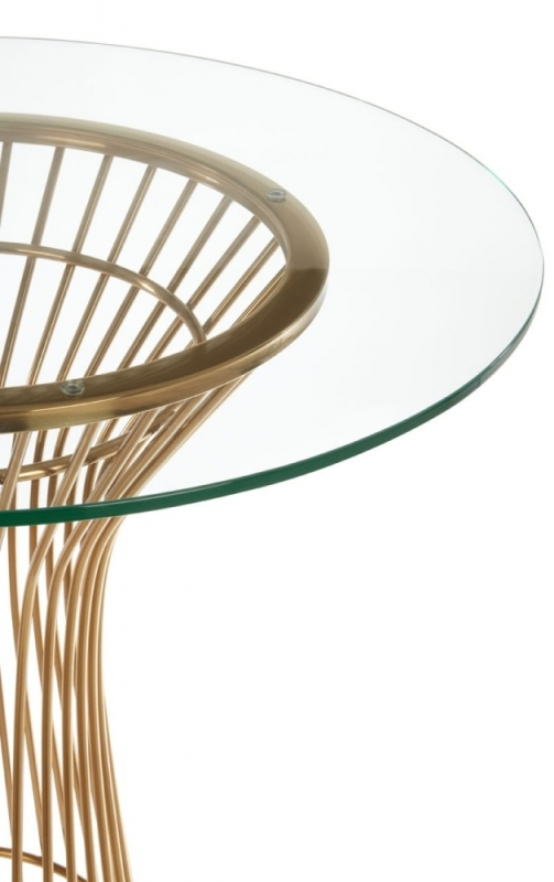 Envi Glass and Gold Round Dining Table