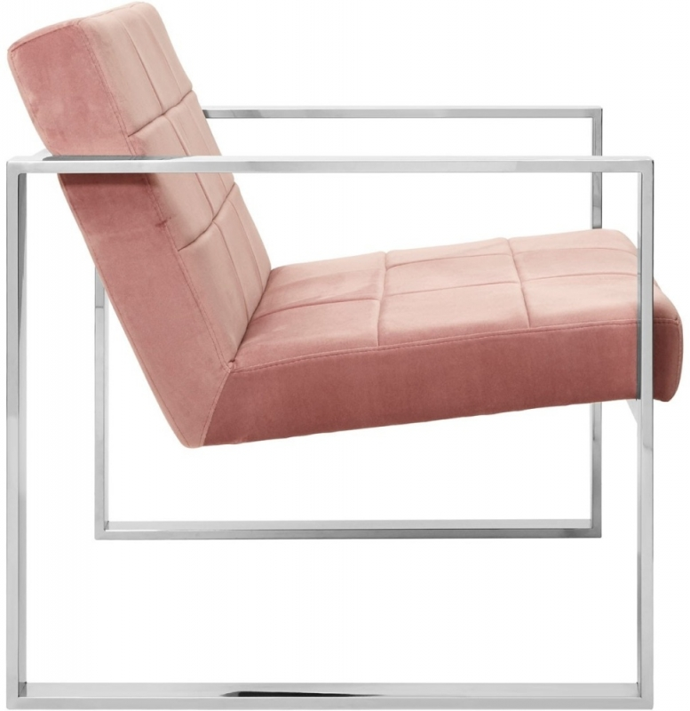 Envi Pink Velvet Cocktail Chair