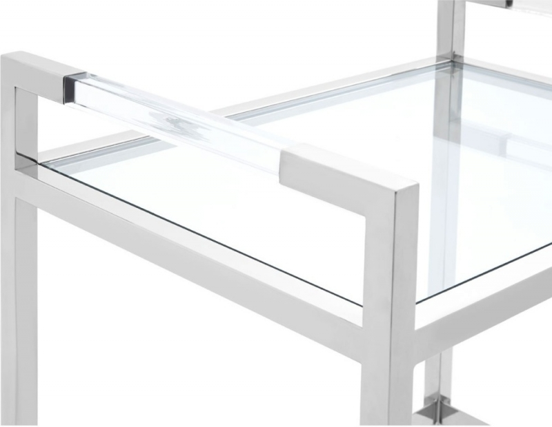 Envi Glass and Chrome 2 Tiers Butler Trolley
