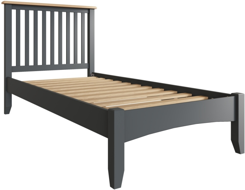 Graceton Oak and Grey Painted 3ft Single Bed