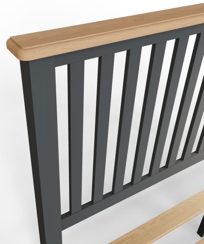 Graceton Oak and Grey Painted 5ft King Size Bed