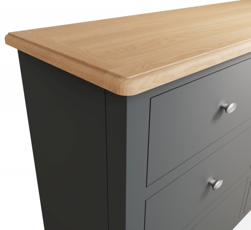 Graceton Oak and Grey Painted 6 Drawer Chest