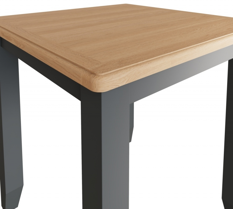 Graceton Oak and Grey Painted Square Dining Table
