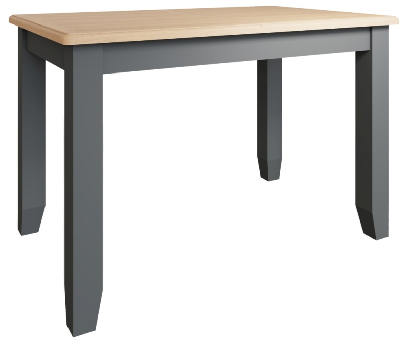 Graceton Oak and Grey Painted 120cm-160cm Extending Dining Table