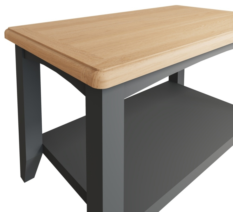 Graceton Oak and Grey Painted Coffee Table