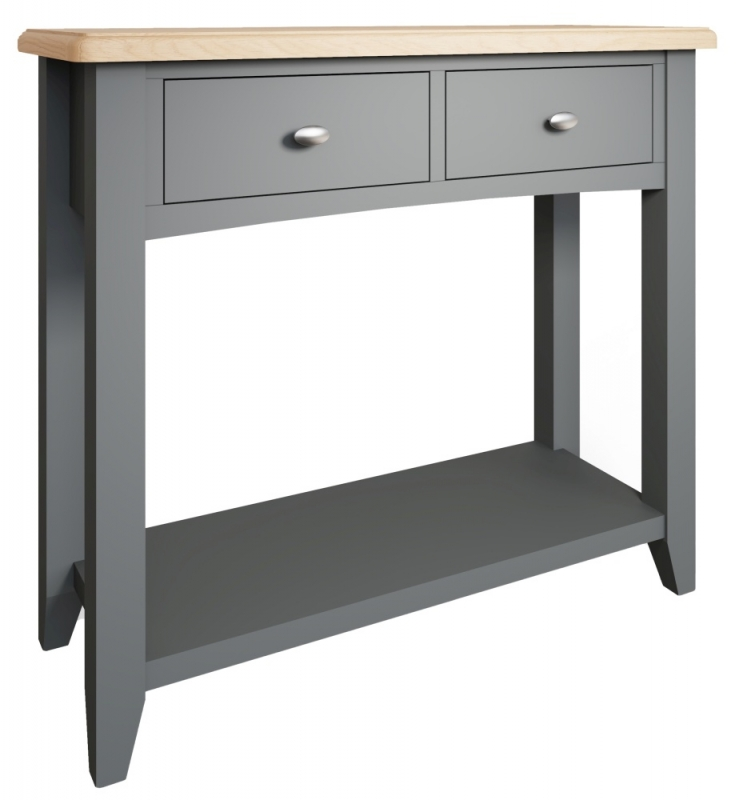 Graceton Oak and Grey Painted Console Table
