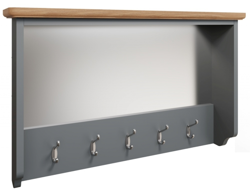 Graceton Oak and Grey Painted Hall Bench Top