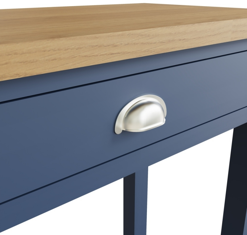 Portland Oak and Blue Painted 1 Drawer Dressing Table