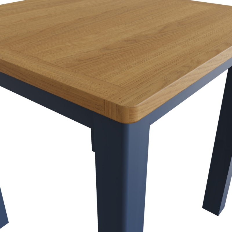 Portland Oak and Blue Painted Square Dining Table