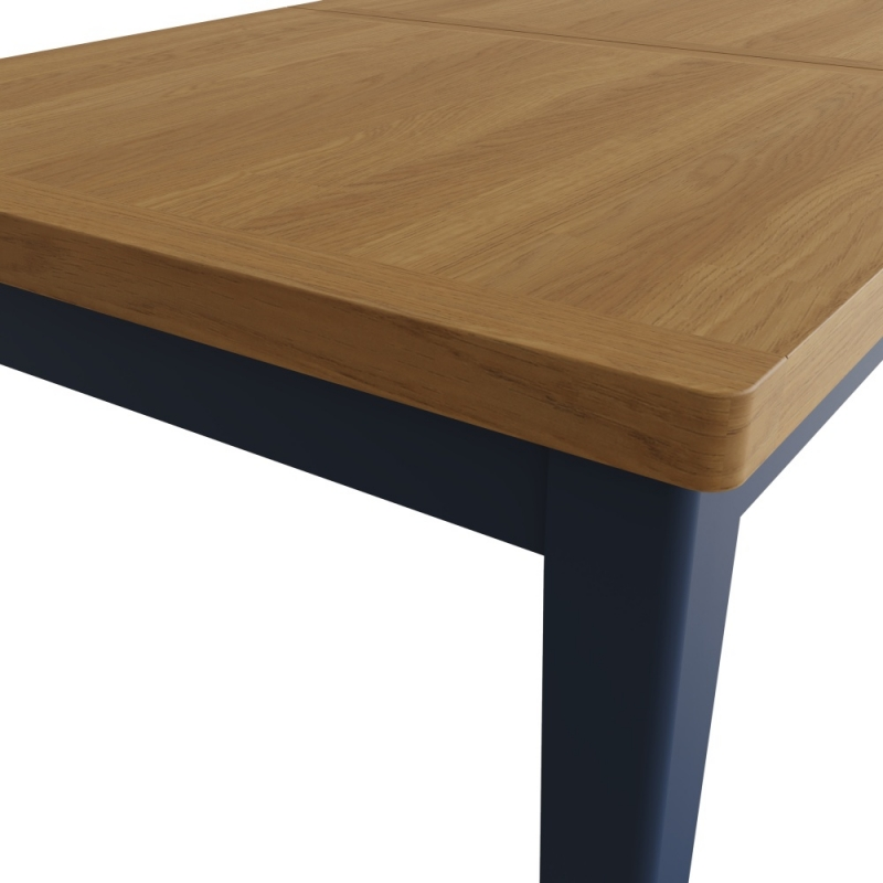Portland Oak and Blue Painted 160cm-200cm Extending Dining Table