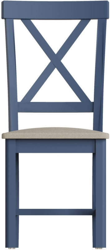 Portland Oak and Blue Painted Dining Chair (Pair)