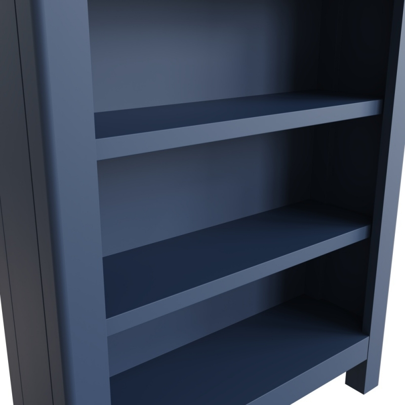 Portland Oak and Blue Painted Bookcase