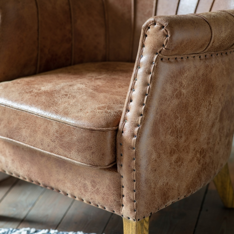 Gallery Hickman Brown Leather Armchair