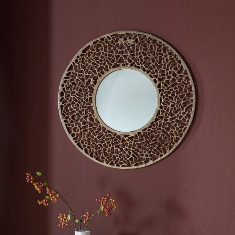 Gallery Verdant Gold Large Round Mirror