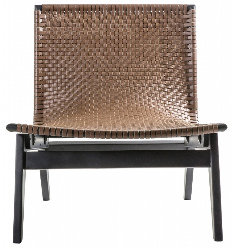 Gallery Seville Brown Leather Lounge Chair