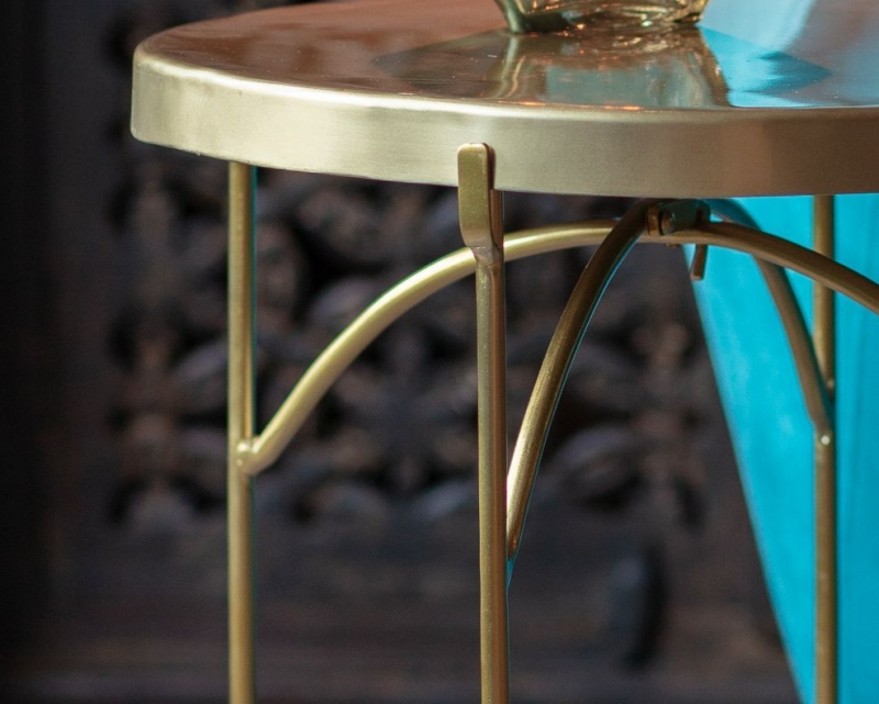 Gallery Limerick Brass Side Table