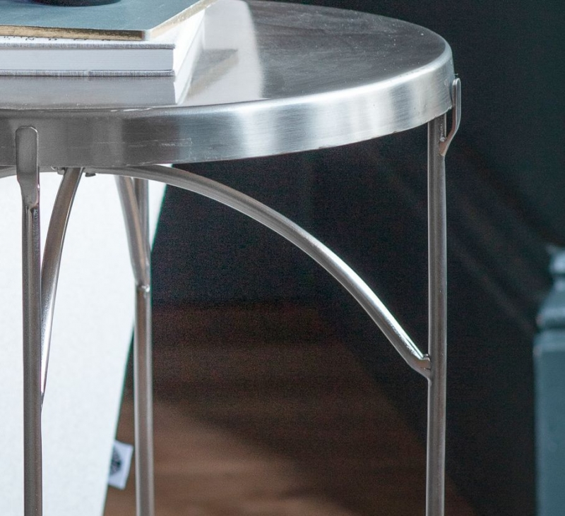 Gallery Limerick Nickel Side Table